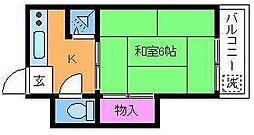 第二ゆたか荘[2階]の間取り