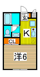 エステートピア武蔵浦和[205号室]の間取り