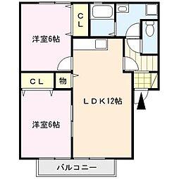 ファミールコート[1階]の間取り