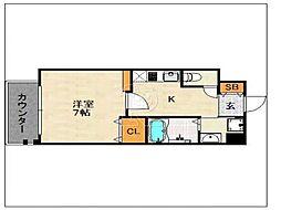 エンクレスト六本松2[602号室]の間取り