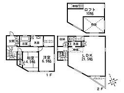 [一戸建] 兵庫県西宮市上鳴尾町 の賃貸【/】の間取り