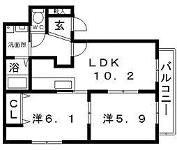 クラヴィラージュ[2階]の間取り