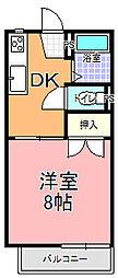 見川コーポ[202号室]の間取り