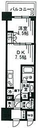 ザ・パークハビオ天満橋[1104号室]の間取り