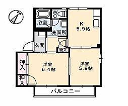 サンフォルテ[2階]の間取り