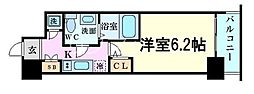 Osaka Metro千日前線 野田阪神駅 徒歩2分の賃貸マンション 12階1Kの間取り