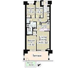 Brillia狛江ファーム&ガーデン[1階]の間取り