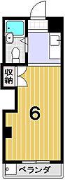 ヒューマンハイツ御室[105号室]の間取り