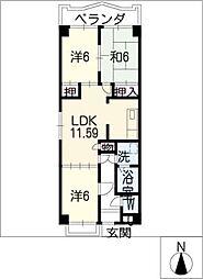 熱田マンション[2階]の間取り