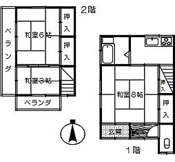 [テラスハウス] 埼玉県さいたま市大宮区三橋2丁目 の賃貸【/】の間取り