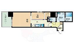 サニークレスト赤坂 9階1LDKの間取り