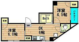エスタイル北堀江[3階]の間取り