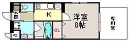 京都府京都市上京区新柳馬場頭町の賃貸マンションの間取り