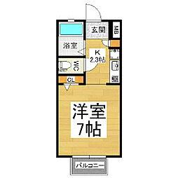 コーポ嵯峨野[3階]の間取り