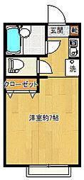 パピオン91[1階]の間取り