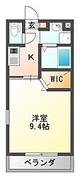 センターフィールドV[2階]の間取り