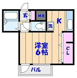 メゾン辰和[2階]の間取り