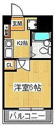 ルーラルタウン参番館[506号室]の間取り