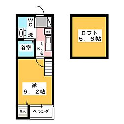 トスラブ野並[1階]の間取り