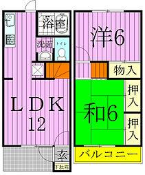[テラスハウス] 千葉県松戸市日暮5丁目 の賃貸【千葉県 / 松戸市】の間取り