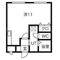 モスト豊平8・9[2階]の間取り