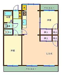 茅ヶ崎ニューライフ2号棟[207号室]の間取り