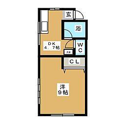 ワタトモアパート[3階]の間取り