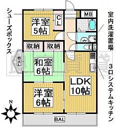 愛知県名古屋市東区大幸1丁目の賃貸マンションの間取り