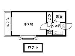 福岡県北九州市八幡西区穴生3丁目の賃貸アパートの間取り