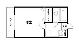 コーポ福田[110号室]の間取り