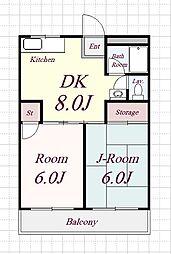 レガシィハイツ[3階]の間取り