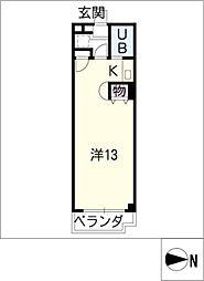 ライフガーデンサトウ[5階]の間取り