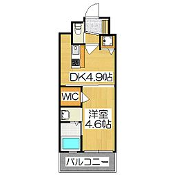 アクアプレイス京都西院[208号室]の間取り