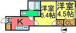 東小松川新築アパート[102号室]の間取り