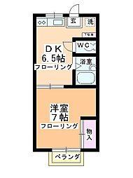 第2多田ハイム[2-2号室]の間取り