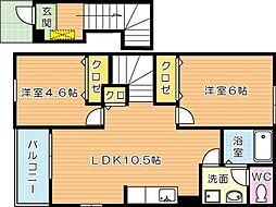 サンフォレストIII[2階]の間取り