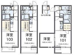 兵庫県加西市北条町北条の賃貸アパートの間取り