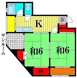第2アンビルマンション[3階]の間取り