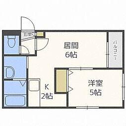 メゾンクー・ドゥ・クールIV[4階]の間取り