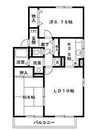 サニーガーデン須磨[A201号室]の間取り