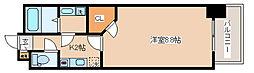 神戸市西神・山手線 湊川公園駅 徒歩1分の賃貸マンション 2階1Kの間取り