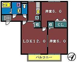 K'Sシャンブル5[1階]の間取り