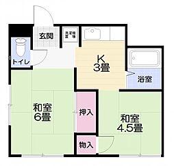 [テラスハウス] 神奈川県横須賀市林5丁目 の賃貸【/】の間取り