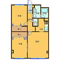 レジデンスKouei[2階]の間取り