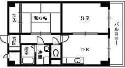 大阪府泉大津市本町の賃貸マンションの間取り