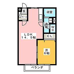 カームアオキ[2階]の間取り