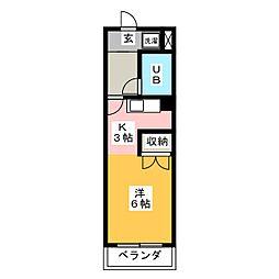吉野屋ビルリーフコート[5階]の間取り