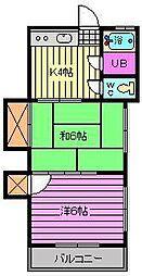 永井マンション[101号室]の間取り