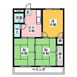 メトロポリス1号館[3階]の間取り