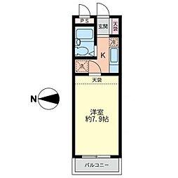 パークサイド湘南台[4階]の間取り